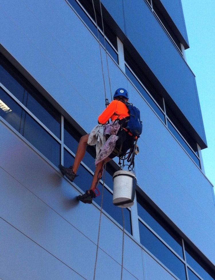 Easy Access Window Cleaning -West Lothian rope access cleaning